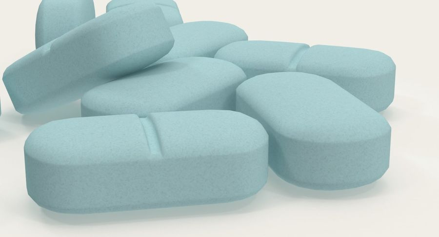 Long Pills royalty-free 3d model - Preview no. 9