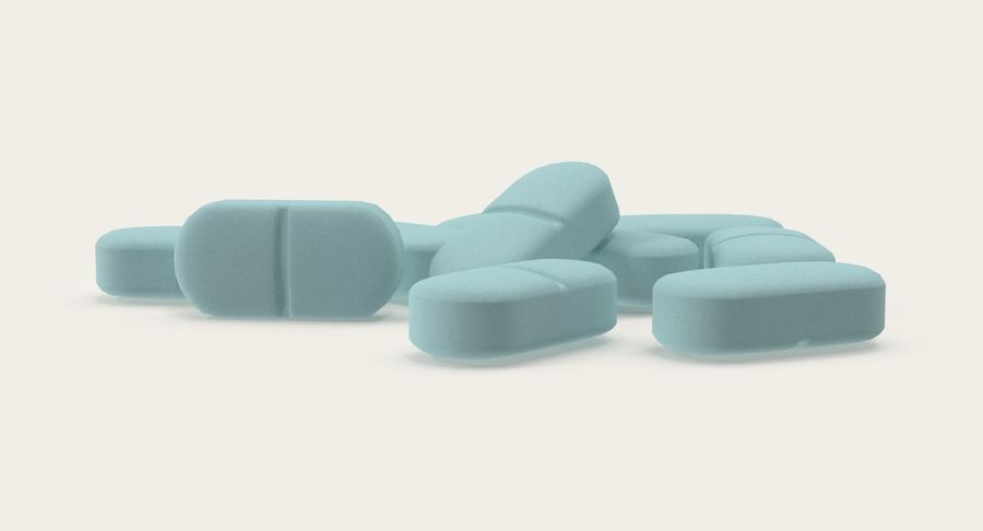Long Pills royalty-free 3d model - Preview no. 6