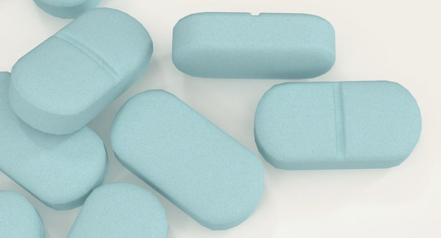 Long Pills royalty-free 3d model - Preview no. 10