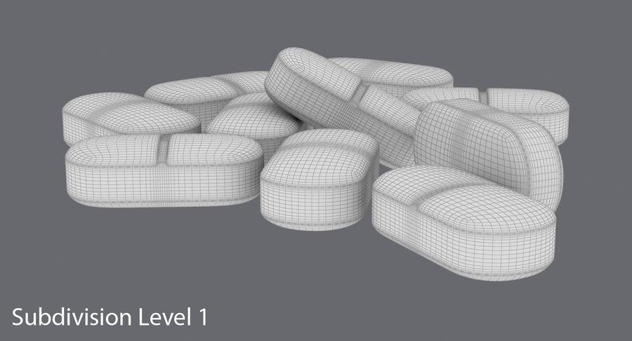 Long Pills royalty-free 3d model - Preview no. 15