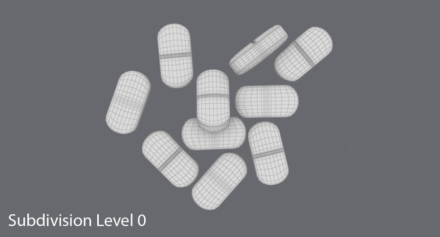 Long Pills royalty-free 3d model - Preview no. 13