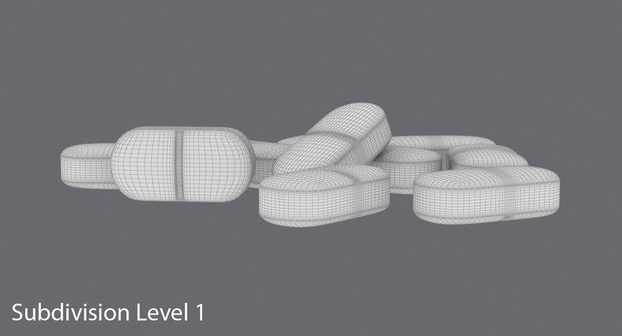 Long Pills royalty-free 3d model - Preview no. 17