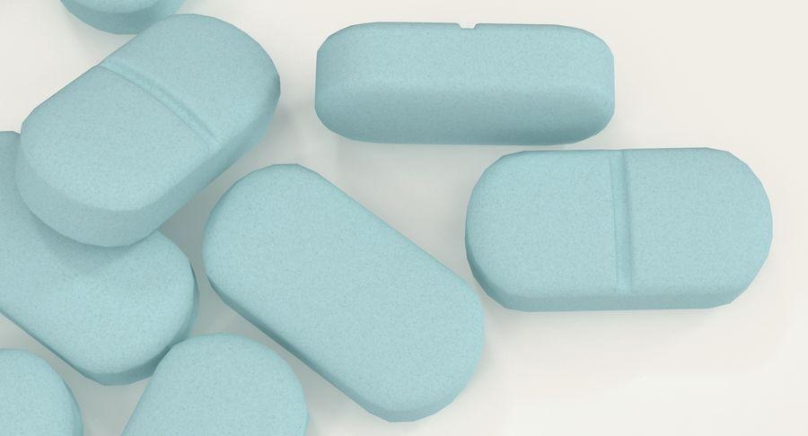 Long Pills royalty-free 3d model - Preview no. 10