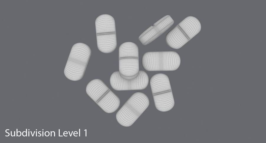Long Pills royalty-free 3d model - Preview no. 16