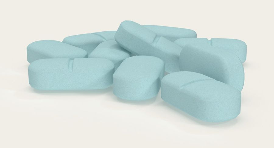 Long Pills royalty-free 3d model - Preview no. 3
