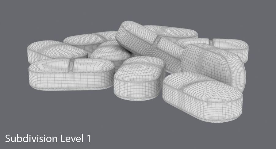 Long Pills royalty-free 3d model - Preview no. 15