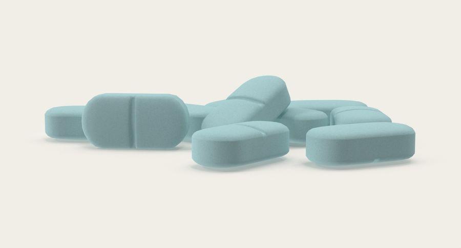 Long Pills royalty-free 3d model - Preview no. 6
