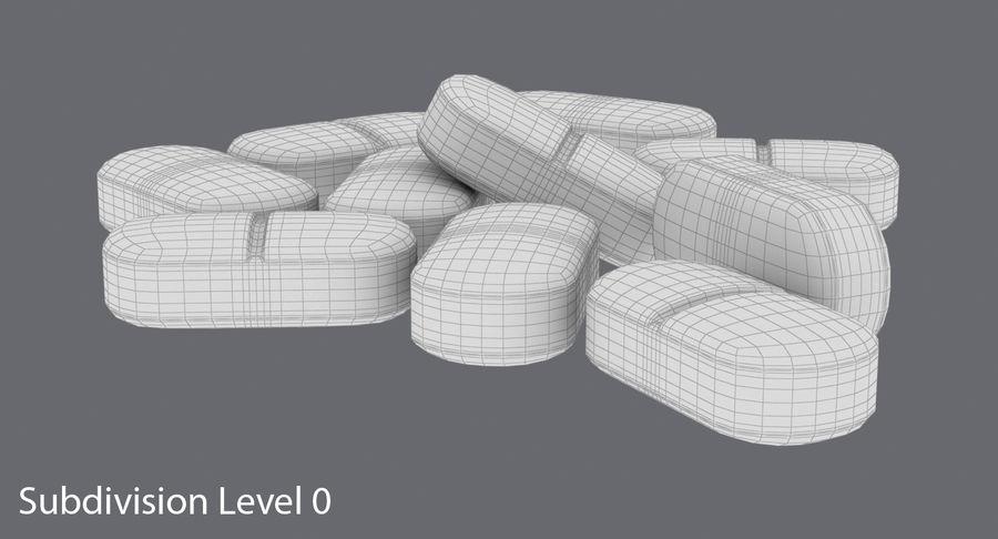Long Pills royalty-free 3d model - Preview no. 12