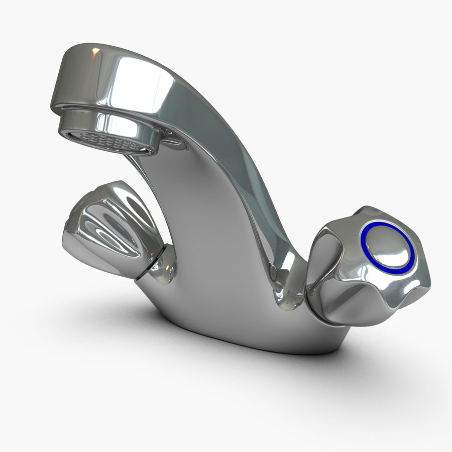 Faucet royalty-free 3d model - Preview no. 9