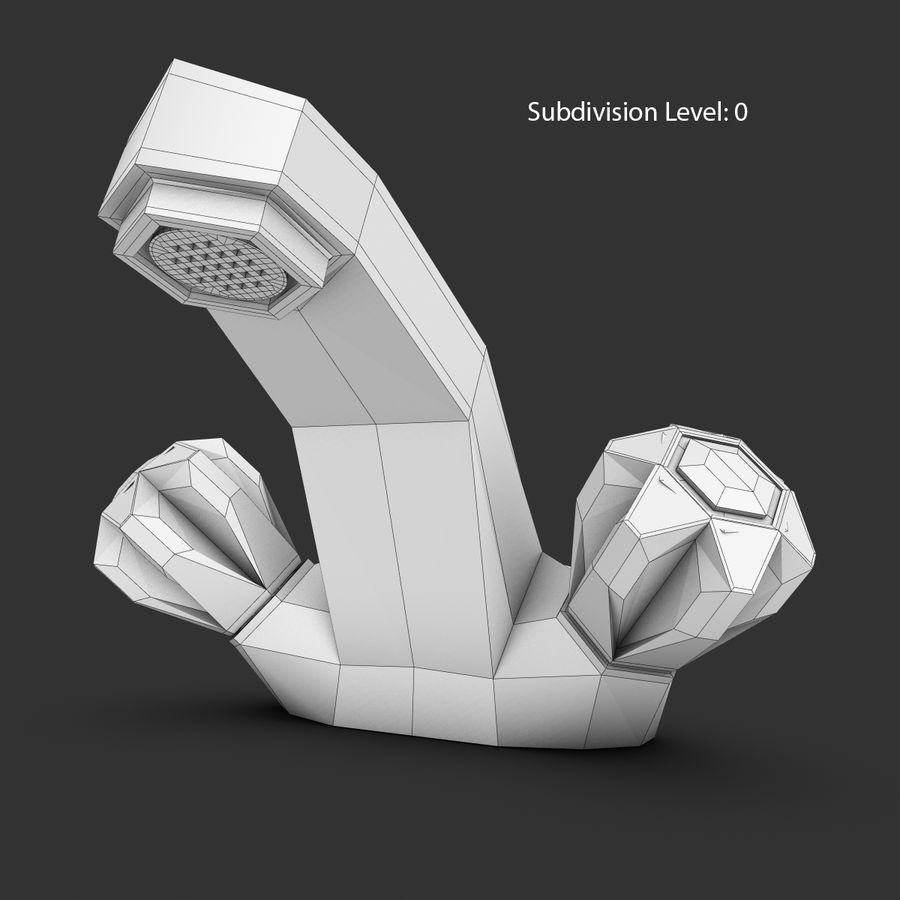 Faucet royalty-free 3d model - Preview no. 14