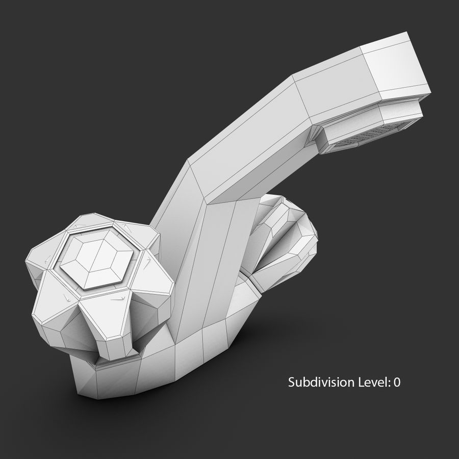 Faucet royalty-free 3d model - Preview no. 20