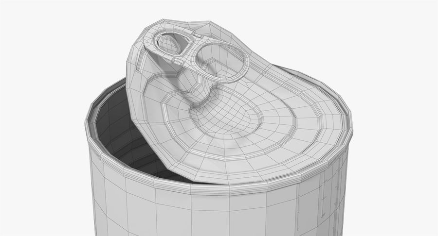 Tin Can Open 1 royalty-free 3d model - Preview no. 25