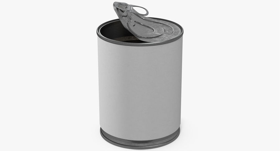 Tin Can Open 1 royalty-free 3d model - Preview no. 2