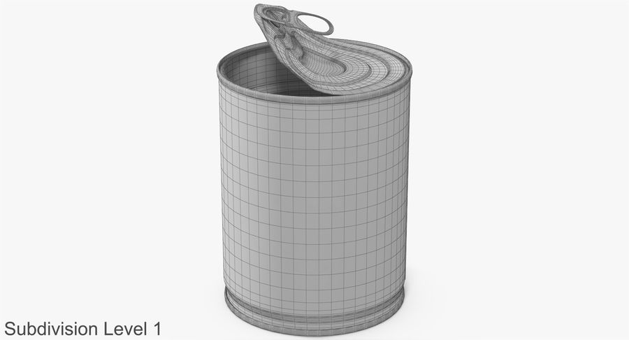 Tin Can Open 1 royalty-free 3d model - Preview no. 18