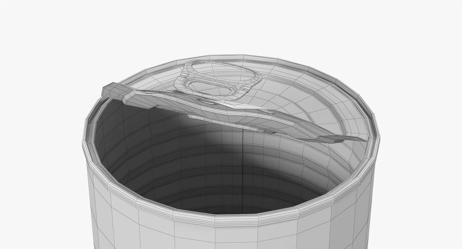 Tin Can Open 1 royalty-free 3d model - Preview no. 27