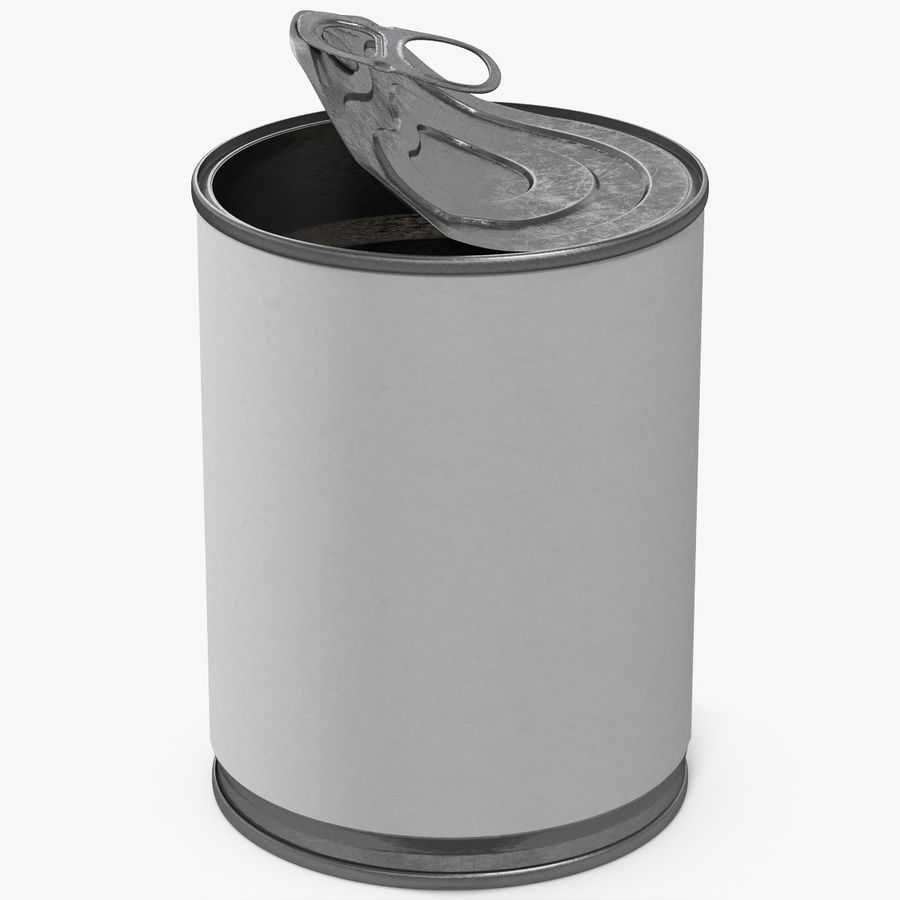 Tin Can Open 1 royalty-free 3d model - Preview no. 1