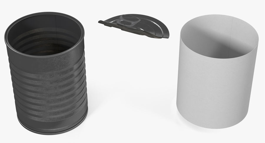 Tin Can Open 1 royalty-free 3d model - Preview no. 11