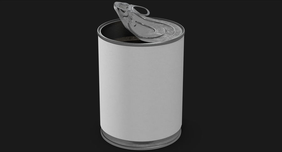 Tin Can Open 1 royalty-free 3d model - Preview no. 3