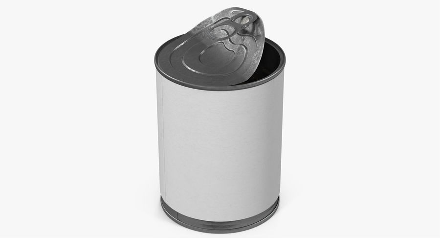 Tin Can Open 1 royalty-free 3d model - Preview no. 5