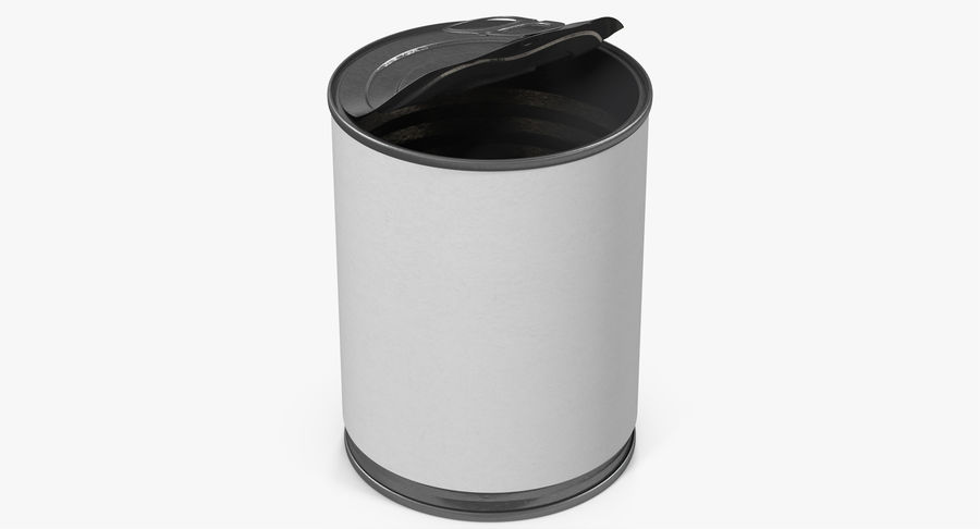 Tin Can Open 1 royalty-free 3d model - Preview no. 4
