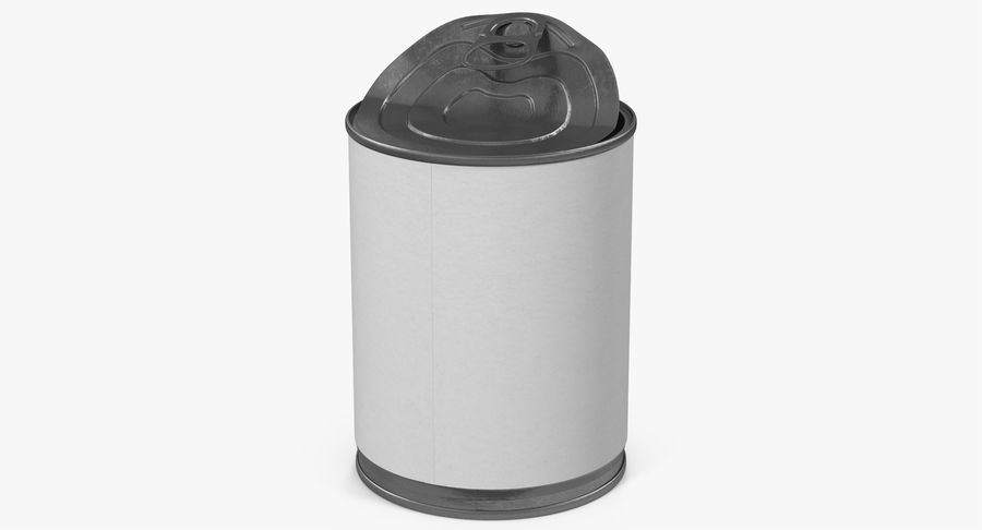 Tin Can Open 1 royalty-free 3d model - Preview no. 15