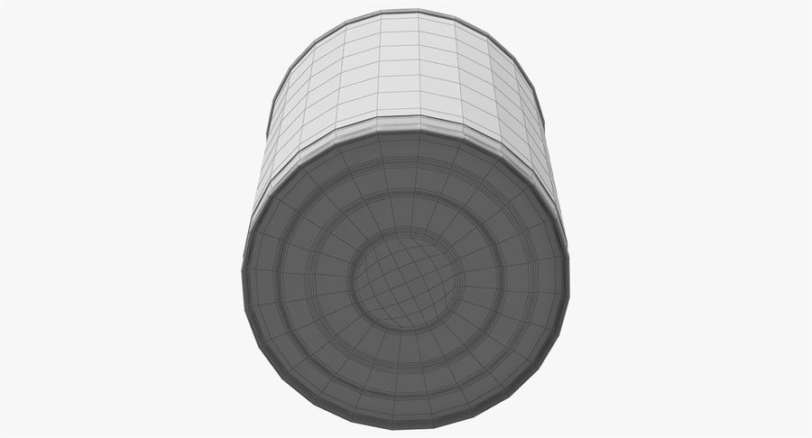 Tin Can Open 1 royalty-free 3d model - Preview no. 30