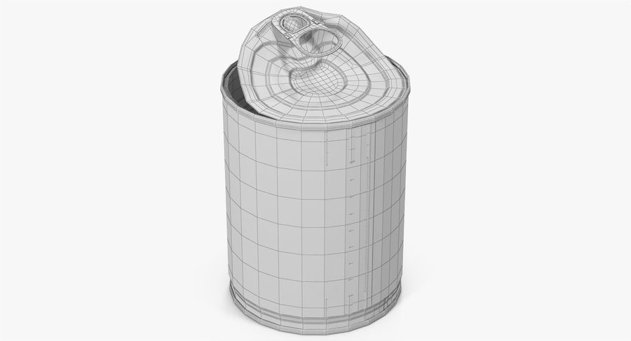 Tin Can Open 1 royalty-free 3d model - Preview no. 24