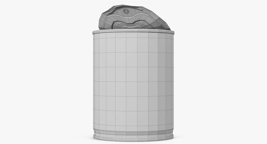 Tin Can Open 1 royalty-free 3d model - Preview no. 32