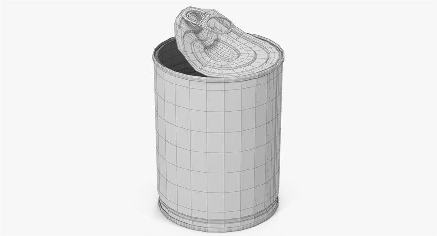 Tin Can Open 1 royalty-free 3d model - Preview no. 34