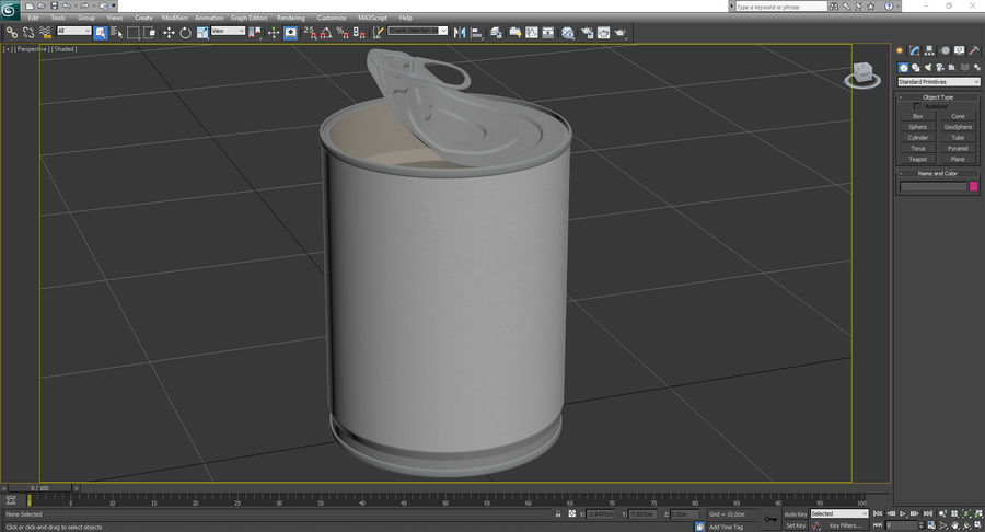 Tin Can Open 1 royalty-free 3d model - Preview no. 21