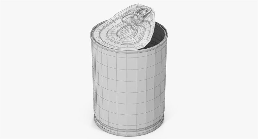 Tin Can Open 1 royalty-free 3d model - Preview no. 23