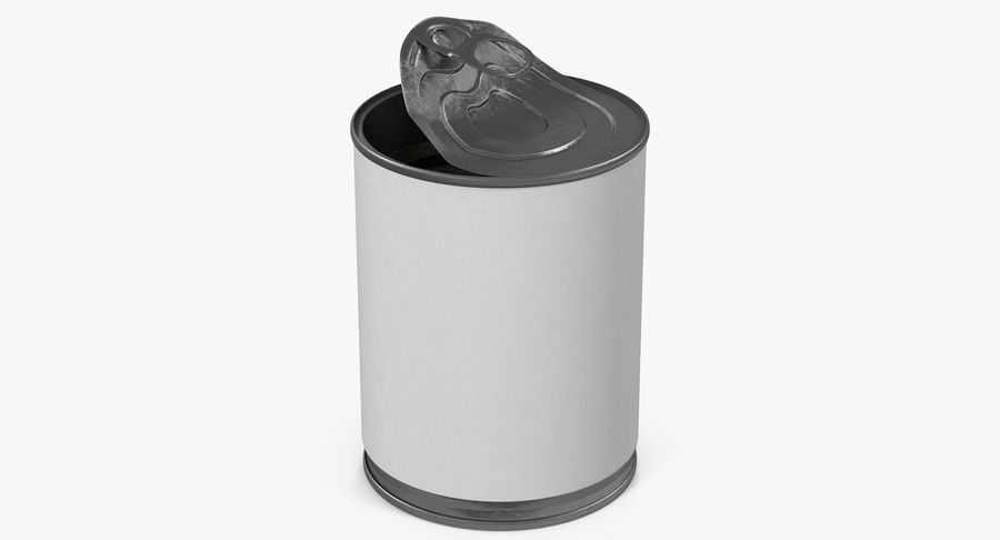Tin Can Open 1 royalty-free 3d model - Preview no. 16
