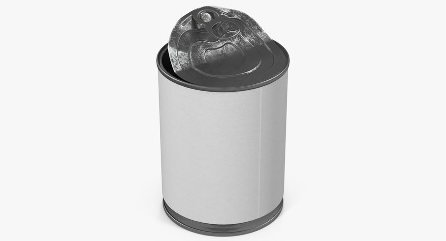 Tin Can Open 1 royalty-free 3d model - Preview no. 6