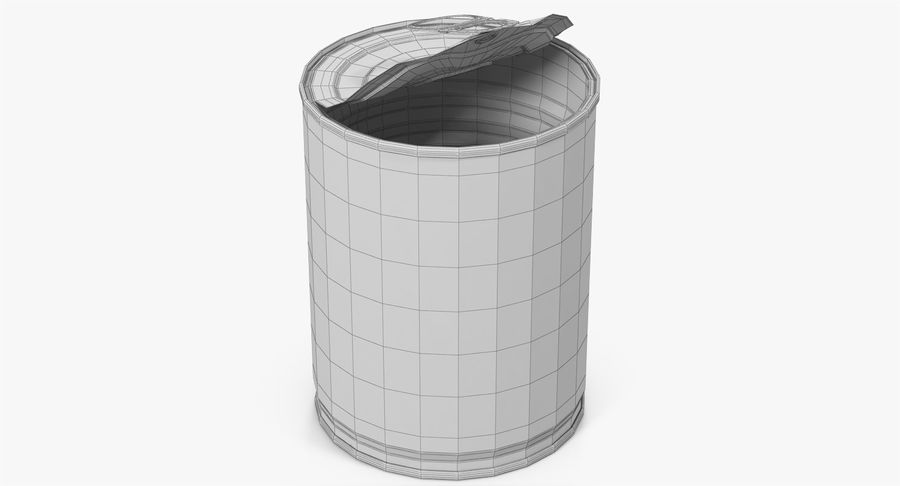 Tin Can Open 1 royalty-free 3d model - Preview no. 22