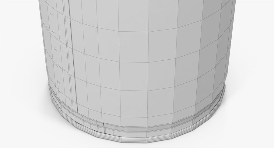 Tin Can Open 1 royalty-free 3d model - Preview no. 28