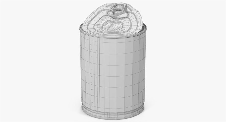 Tin Can Open 1 royalty-free 3d model - Preview no. 33