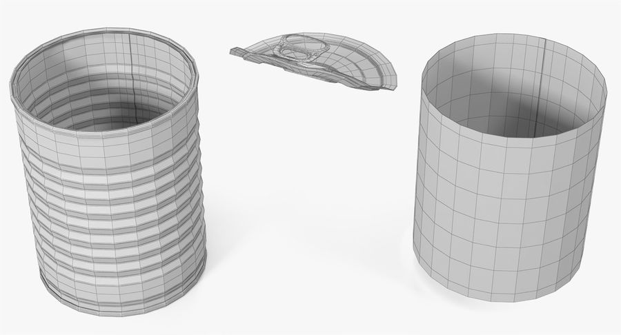 Tin Can Open 1 royalty-free 3d model - Preview no. 29
