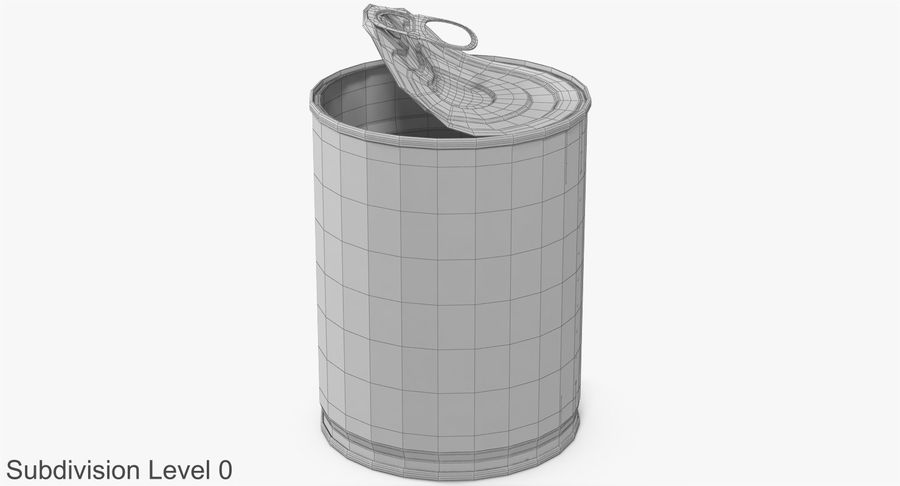 Tin Can Open 1 royalty-free 3d model - Preview no. 17