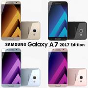 Samsung Galaxy A7 2017 alla färger 3d model
