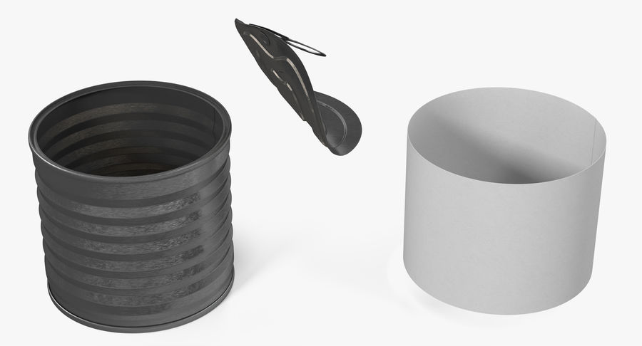 Tin Can Open 2 royalty-free 3d model - Preview no. 9