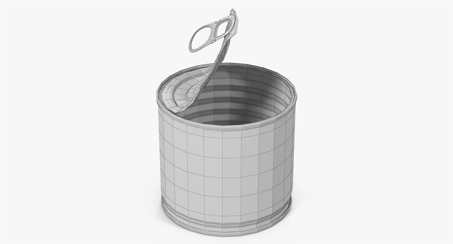 Tin Can Open 2 royalty-free 3d model - Preview no. 21