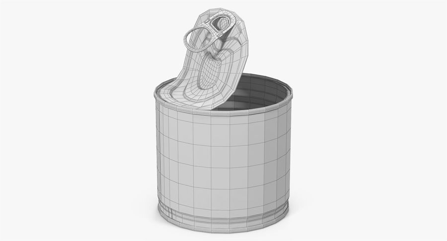 Tin Can Open 2 royalty-free 3d model - Preview no. 29