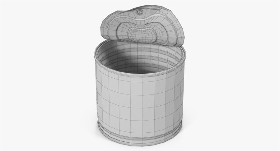 Tin Can Open 2 royalty-free 3d model - Preview no. 20