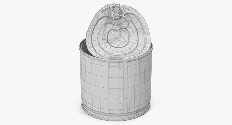 Tin Can Open 2 royalty-free 3d model - Preview no. 30