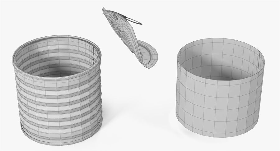 Tin Can Open 2 royalty-free 3d model - Preview no. 25