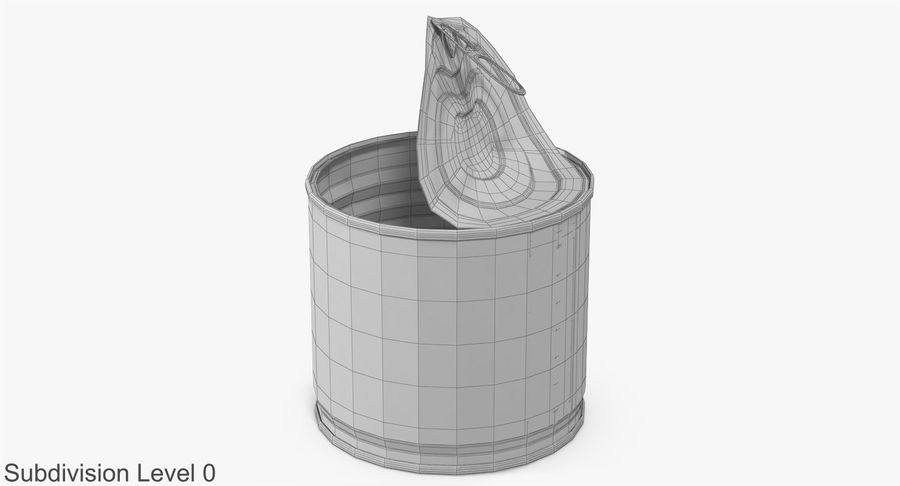 Tin Can Open 2 royalty-free 3d model - Preview no. 15