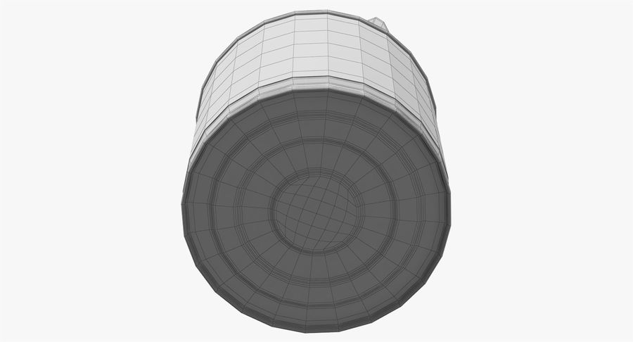 Tin Can Open 2 royalty-free 3d model - Preview no. 26