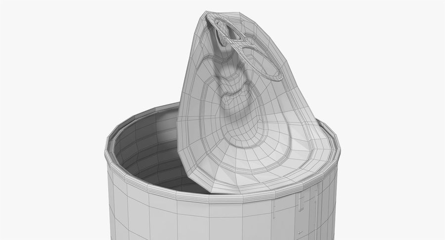 Tin Can Open 2 royalty-free 3d model - Preview no. 22