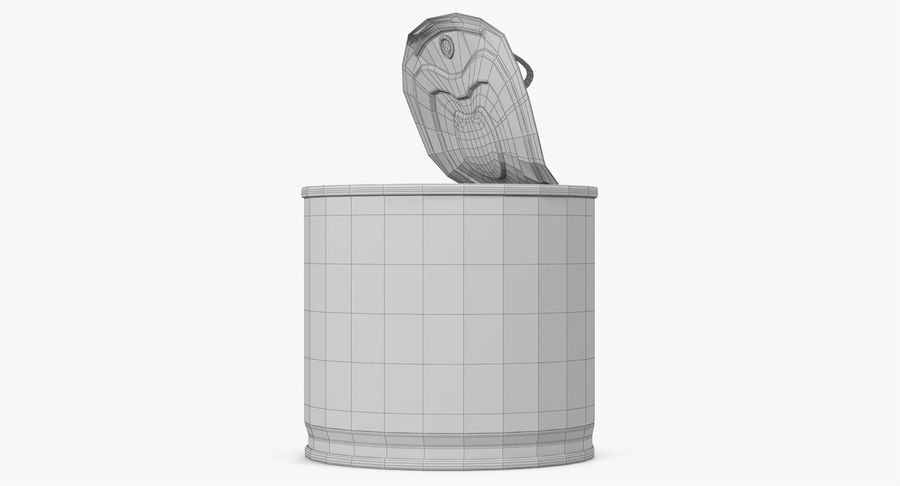 Tin Can Open 2 royalty-free 3d model - Preview no. 28