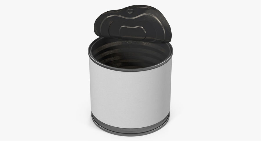 Tin Can Open 2 royalty-free 3d model - Preview no. 4
